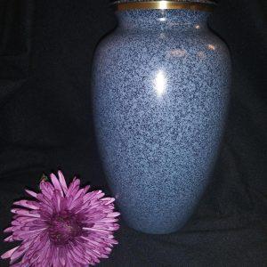 blue fauxite urn