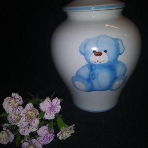 blue infant urn